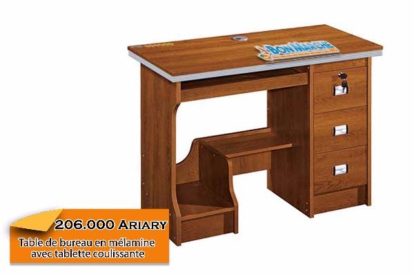 Table de bureau en mlamine avec tablette coulissante A vendre