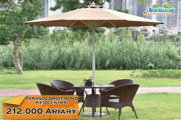 parasol droit rond pied central a vendre madagascar 37121. Black Bedroom Furniture Sets. Home Design Ideas