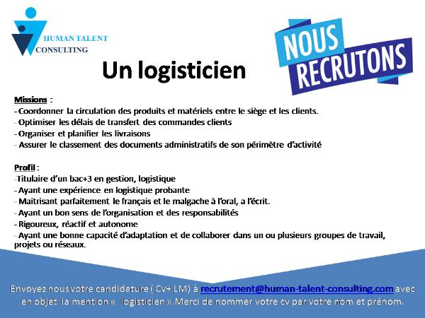 Photo 1 - logisticien - service logistique